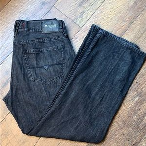 🌞 3/$20 Guess men's jeans. Size 34 30. Black.